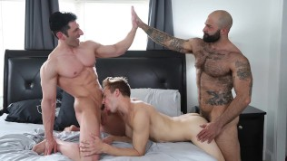 GAYWIRE – Atlast Grant, Sir Jet And Bar Addison On POUND HIS ASS